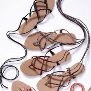 1114f7904a53 Colin Stuart Shoes - EUC Colin Stuart Braided Ankle Wrap Sandals